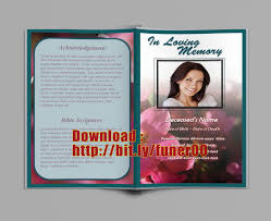Templates For Funeral Program Free Obituary Program Template For Word Examples Download Orchid