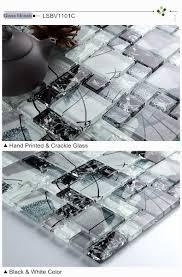 decoration glass subway tile backsplash in modern kitchen with