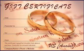 free wedding gifts wedding gift certificate template 28 images wedding gift