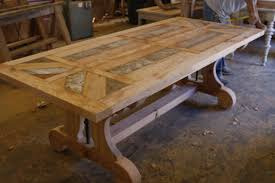 Dining Room Extension Tables by Hand Crafted Custom Trestle Dining Table With Leaf Extensions