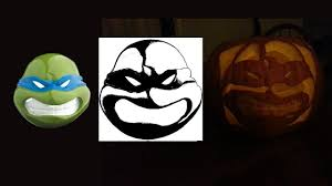 making ninja turtle stencil carving ninja turtle pumpkin