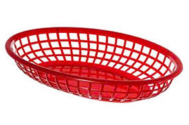 junk food basket update international bb96r oval fast food baskets