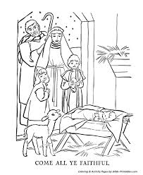 the christmas bible story printable coloring pages coloring page