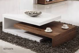 Cool Living Room Tables Walnut And White Coffee Table Home Design And Decorating Ideas