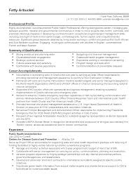 How To Make A Talent Resume Professional Public Health Advisor Templates To Showcase Your