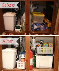 Kitchen Cabinet Organizing Ideas Under The Kitchen Sink Organization