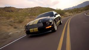 Yellow Mustang With Black Stripes Black Mustang With Yellow Stripes On The Body Wallpapers And
