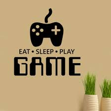 eat sleep play game vinyl lettering video gamer wall decal eat sleep play game vinyl lettering video gamer wall decal