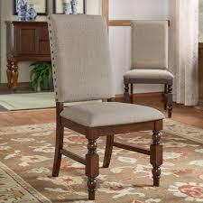 amazon com flatiron nailhead upholstered dining chairs set of 2