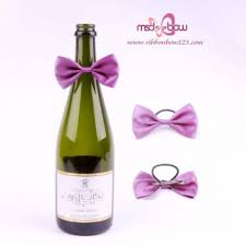 wine bottle bows wholesale wine bottle neck decorative bows for gift packing