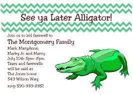 brunch invitation sle going away party invitations see ya later alligator farewell