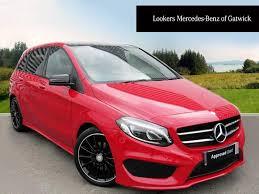 pink mercedes amg mercedes benz b class b 200 d amg line premium plus red 2016 04