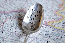 outstanding hand stamped spoon decoration vintage hand stamped