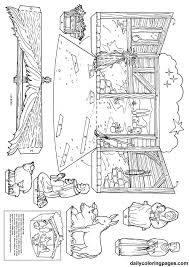 free printable nativity diorama christmas coloring pages