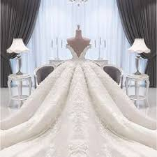 wedding dress qatar gorgeous strapless appliques bowknot cathdral wedding dress
