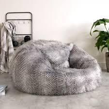 Faux Fur Bean Bag Chairs Icon Faux Fur Bean Bag Ostrich U2013 Glam Home Store