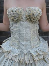 this beautiful dress is made entirely out of a book craft and books
