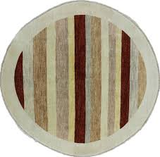 Modern Stripe Rug by 7 X 7 Round Striped Handmade Gabbeh Area Rug P2695