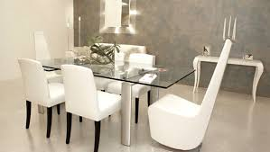 elegant high back white elegant chairs for contemporary dining