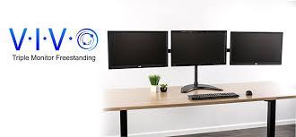 Computer Monitor Mounts Desk Vivo Monitor Mount Fully Adjustable Desk Free