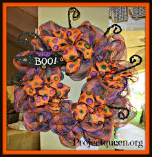 Halloween Wreath Ideas Front Door Halloween Mesh Wreath Tutorial