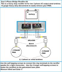 double 90 amp pma rectifier kit for wind turbines with bridge