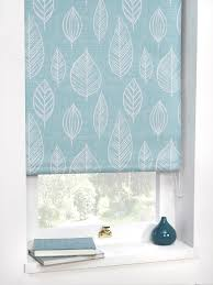 Thermal Blackout Blinds Vermont Teal Printed Thermal Blackout Roller Blind 5 Widths
