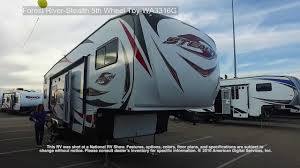 forest river 5th wheel floor plans forest river stealth 5th wheel toy wa3316g youtube