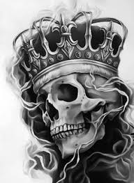 top drawing of skull with crown images for tattoos