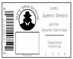 secret agent badge could be kept in alphabettical order and