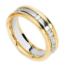two tone mens wedding bands simon g engagement rings two tone diamond mens band