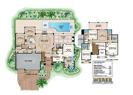 Garage Loft Floor Plans Bonaire House Plan Mediterranean Home 4bed 4bath 3 Car Garage