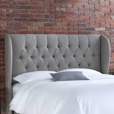 Grey Tufted Headboard Grey King Headboard Vision Board Master Pinterest Linen