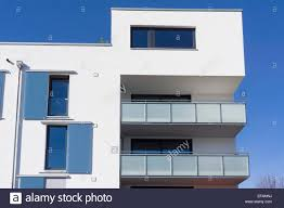 multi family house modern architecture in the bauhaus style stock
