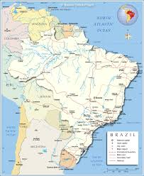 Map Of United States And Capitals by Detailed Map Of Brazil Nations Online Project