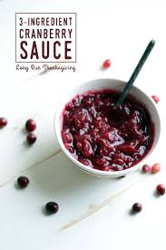 thanksgiving cranberry 3 ingredient cranberry sauce
