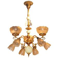 Gas Chandelier Gas Electric Chandelier For Sale At 1stdibs