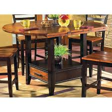 counter height dining table with storage gracewood hollow marcus acacia 42 inch counter height drop leaf