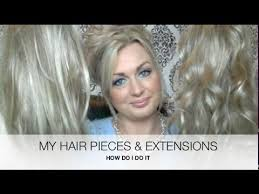 ladies hair pieces for gray hair my hair pieces and extensions hairdo by ken paves how to youtube