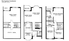 House Plan Bedroom Luxury Townhouses For Rent Four Bedroom House Small Town Home Plans