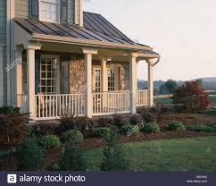 Wrap Around Porch by Large Wrap Around Porch With Shrubs Stock Photo Royalty Free