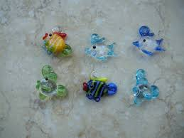 6 pieces 15mm mix colors glass fish lwork mini fish murano glass