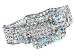 crystal buckle bracelet images Alilang silvery tone iridescent clear crystal colored jpg