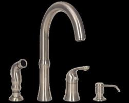 4 Hole Kitchen Faucets Iron 4 Hole Kitchen Faucet Centerset Two Handle Pull Down Spray