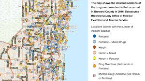 South Florida Zip Code Map by See Where People Have Died From Drug Overdoses In Broward Sun