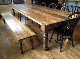 Handcrafted Dining Table And Bench Make A Perfect Pair Osborne - Handcrafted dining room tables