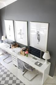 two home gray and white ikea home office for two house mix decor diy