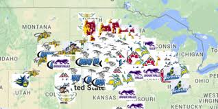 Sioux Falls Map Map See The Recruiting Footprint Of All 10 S D Colleges