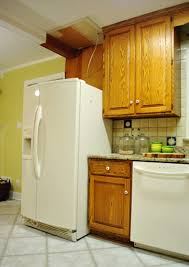 Fridge Cabinet Size Shifting Cabinets And Appliances For A New Kitchen Layout Young