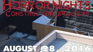 halloween horror nights 2016 construction update 5 youtube
